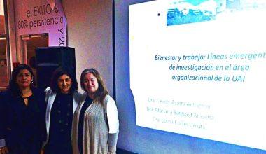 Académicas Psicología UAI participan en II Encuentro Chileno de Investigadores en Bienestar