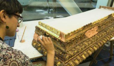 Centro de Estudios del Patrimonio restaura el único retablo barroco de la zona central