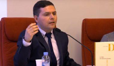 Profesor Esteban Pereira presentó libro sobre Derecho Privado