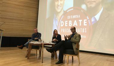 Precandidatos se enfrentaron: Felipe Kast y Fernando Atria en la UAI