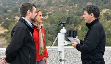 Primera estación de sensores climatológicos se instala en la UAI