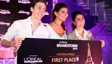 Alumnos de Ingeniería Comercial UAI ganan concurso Brandstorm L'Oreal Chile