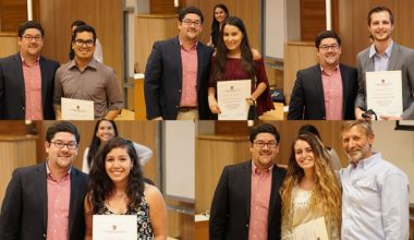 Ingeniería Comercial premió a sus ayudantes más destacados en campus Peñalolén