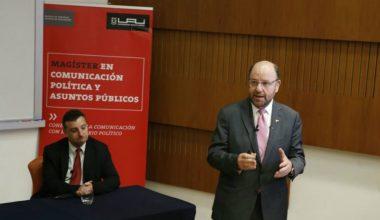 Alfredo Moreno inaugura año académico de los magísteres de la Escuela de Periodismo