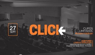 Nueva versión de charlas CLICK: Conoce quienes expondrán en campus UAI Peñalolén