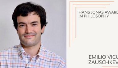 Académico Emilio Vicuña obtiene el Hans Jonas Award a la mejor tesis doctoral en Filosofía de The New School for Social Research