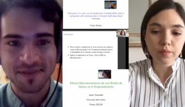 Estudiante de Magíster en Economía gana premio a mejor exposición de tesis en sesiones de afiches SECHI