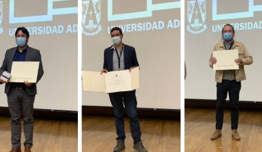 Premian a profesores de Ingeniería UAI por su trabajo académico e investigativo